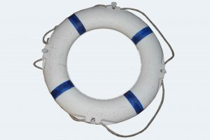 plaine life ring with strips
